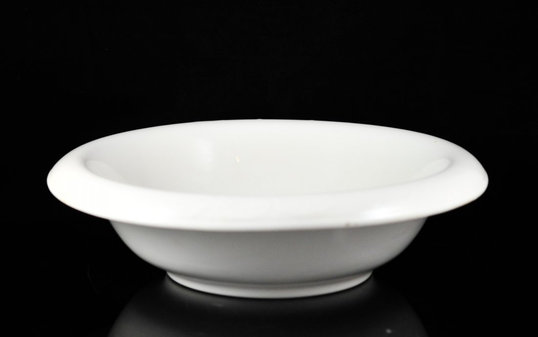 Antique semi-vitreous porcelain K.T. & K wash bowl