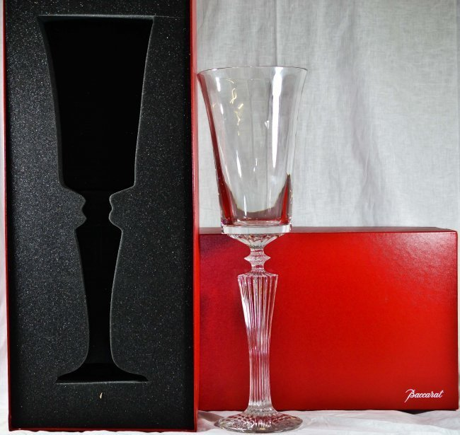 Limited edition crystal footed vase by Baccarat