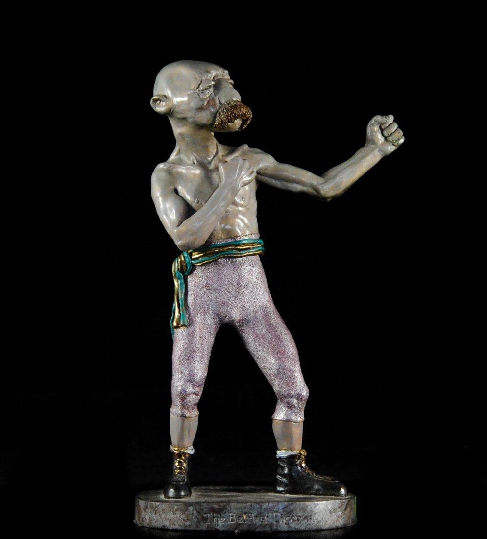 """Charles Bragg"" bronze boxer ""The Belfast Tiger"""