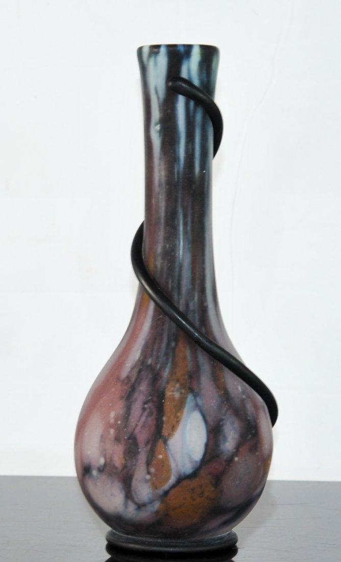 """Vintage Venetian """"Streak"""" art glass vase"""