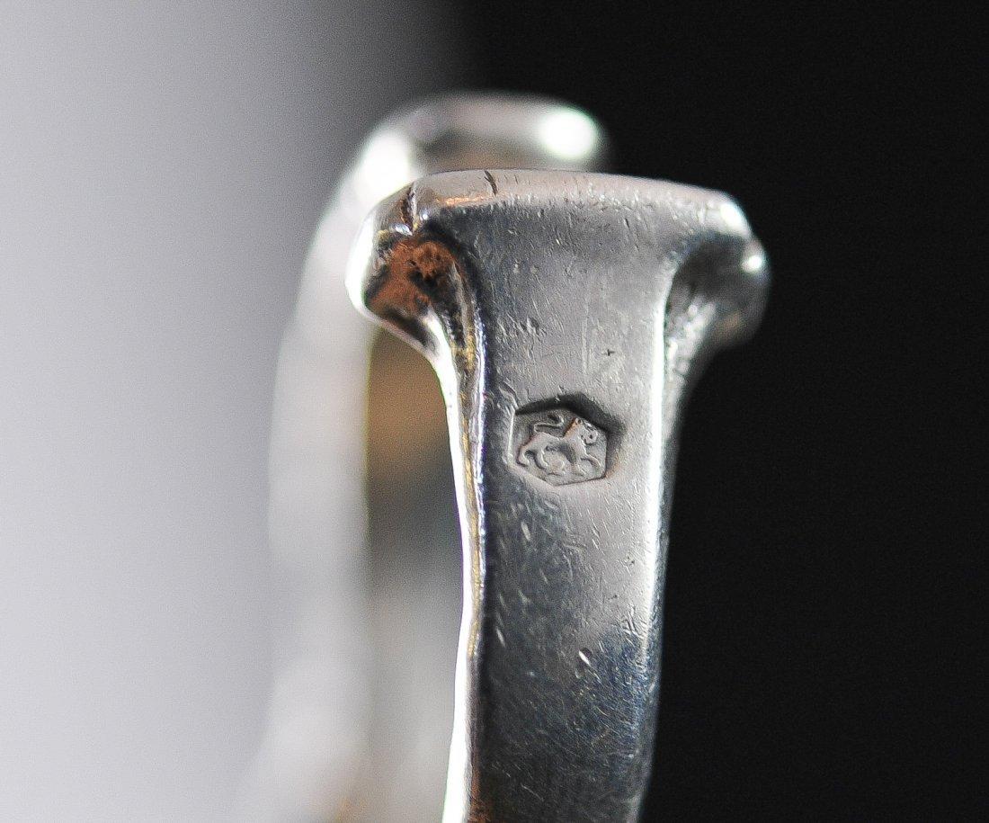 Antique ornate Dutch silver absinthe spoon. Hallmarked - 4