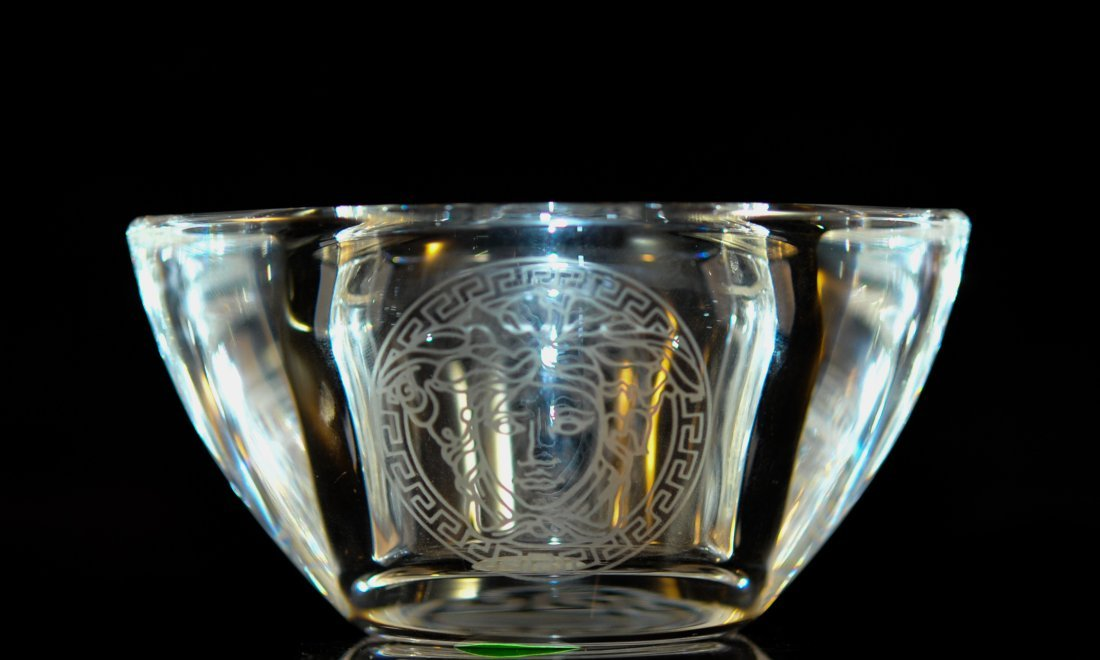 Rosenthal Versace crystal tea candle holder
