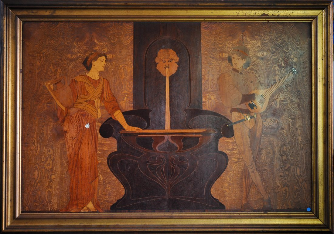 Louis Comfort Tiffany (1848-1943) Marquetry Panel