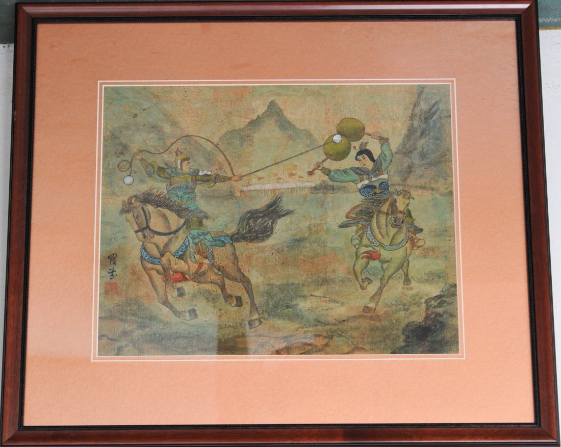 Chinese Multicolored painting