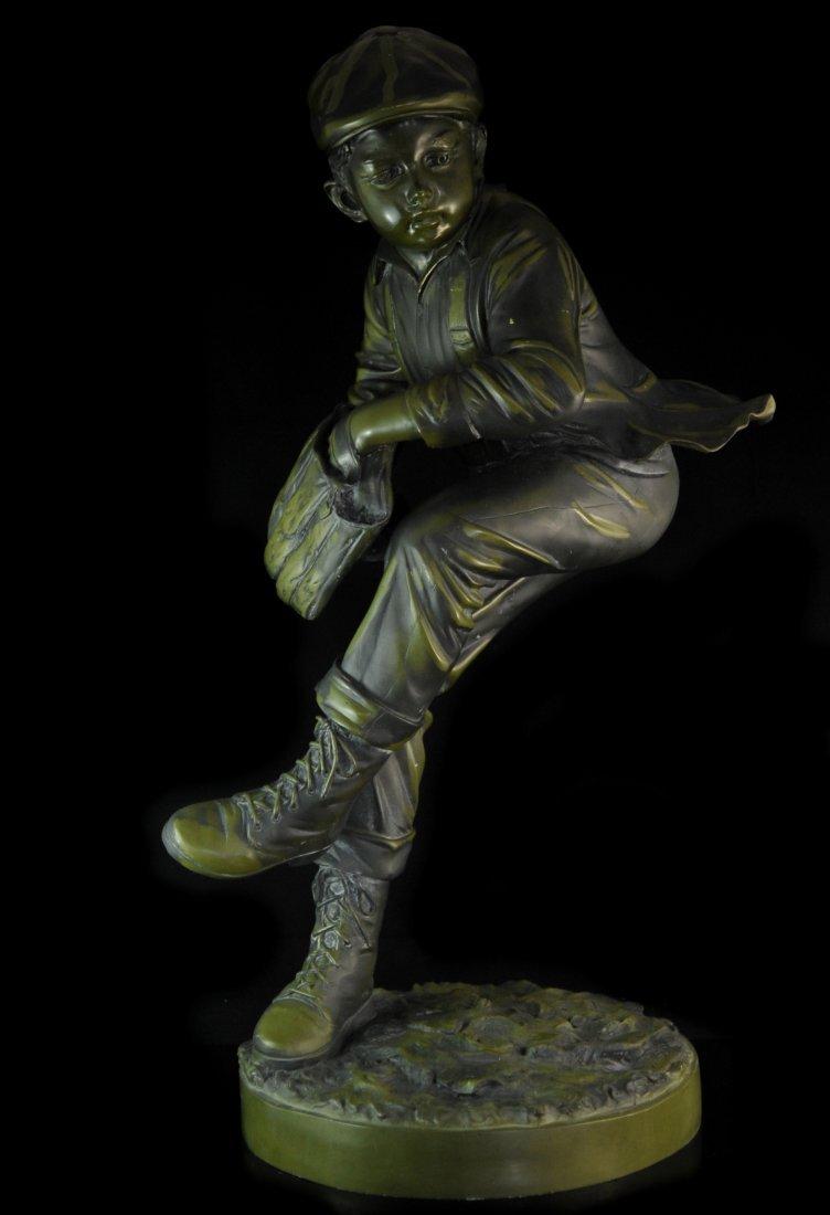 Large Baseball Bronze Signed