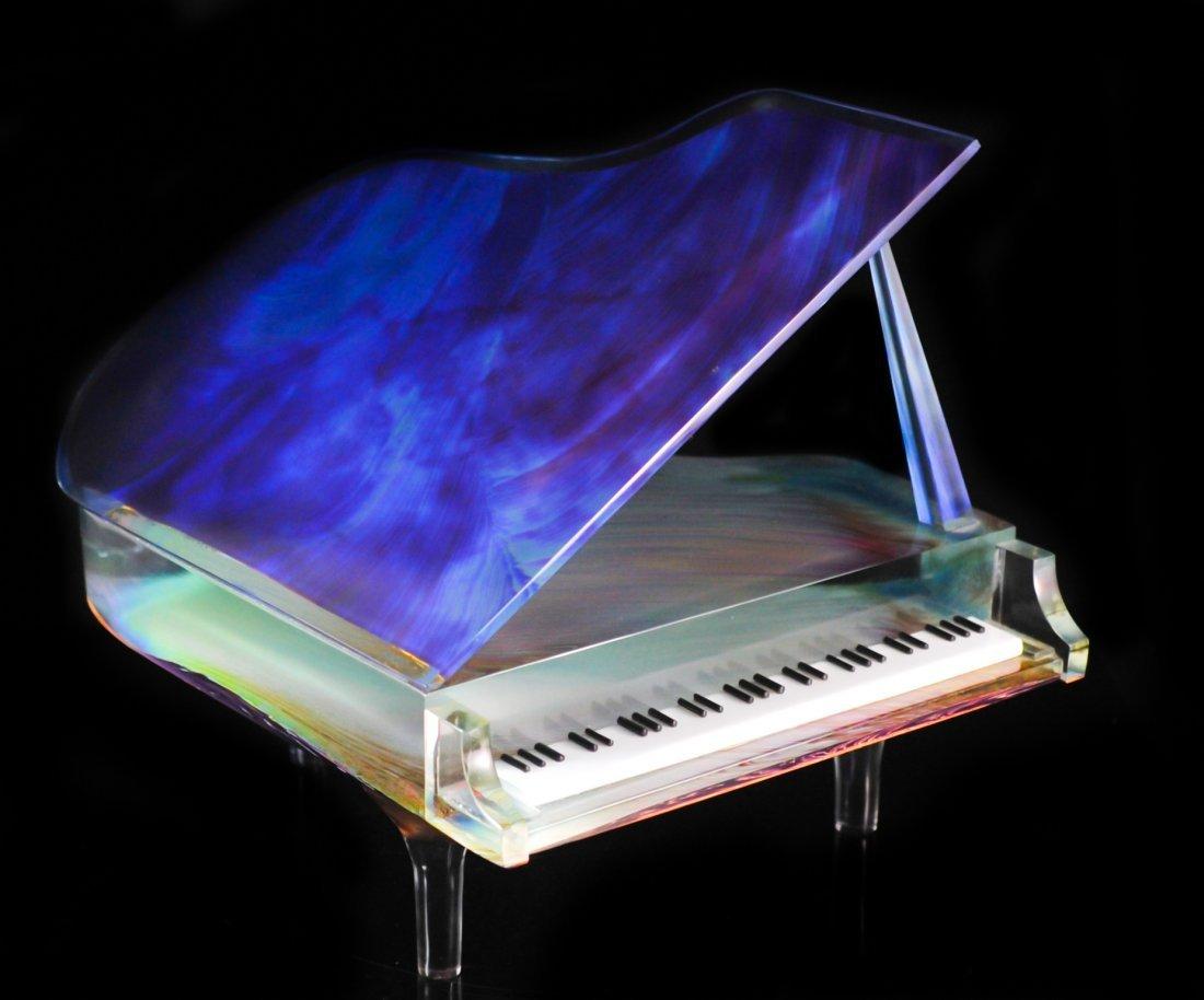 "Dino Rosin Hand Blown Glass ""Piano"""