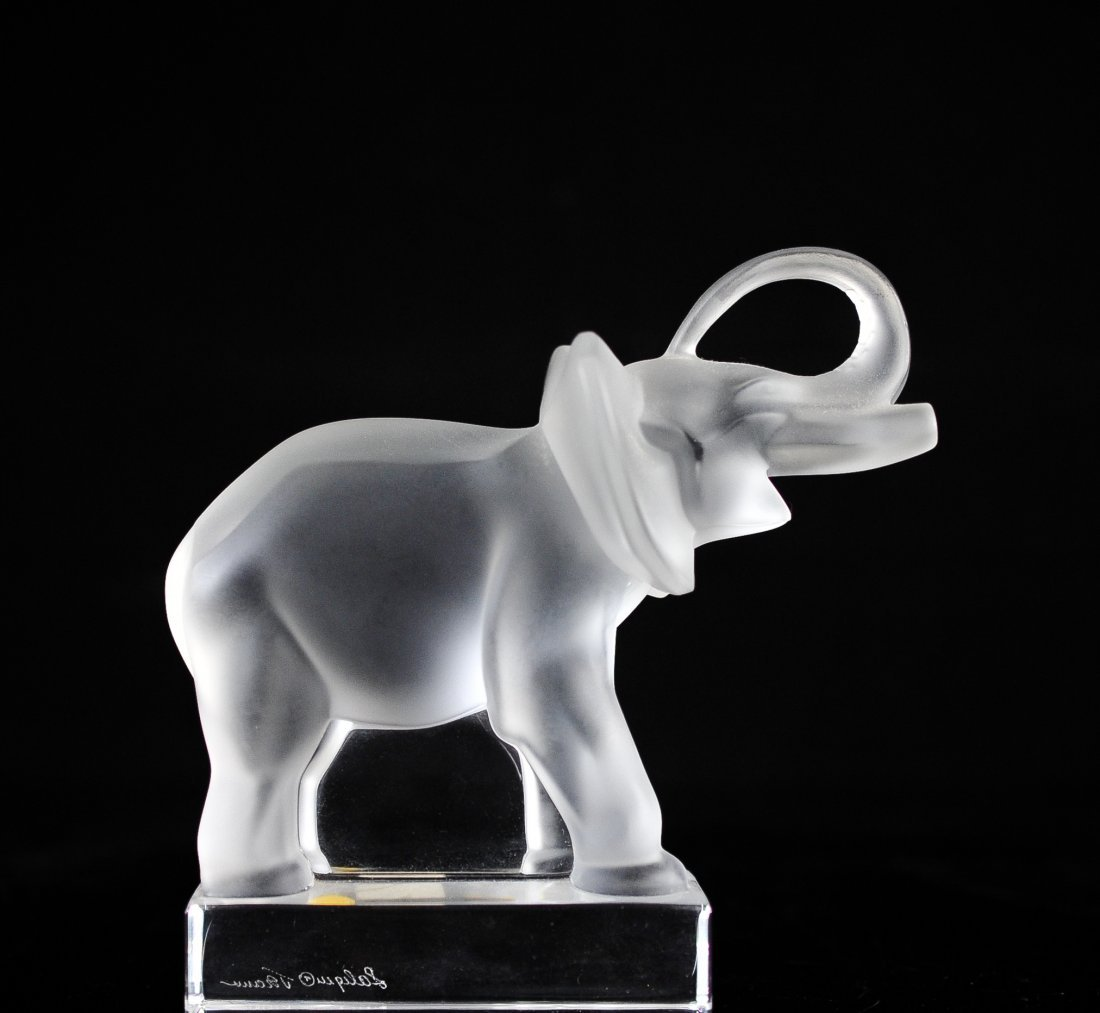 "Lalique ""Elephant"" Paperweight"