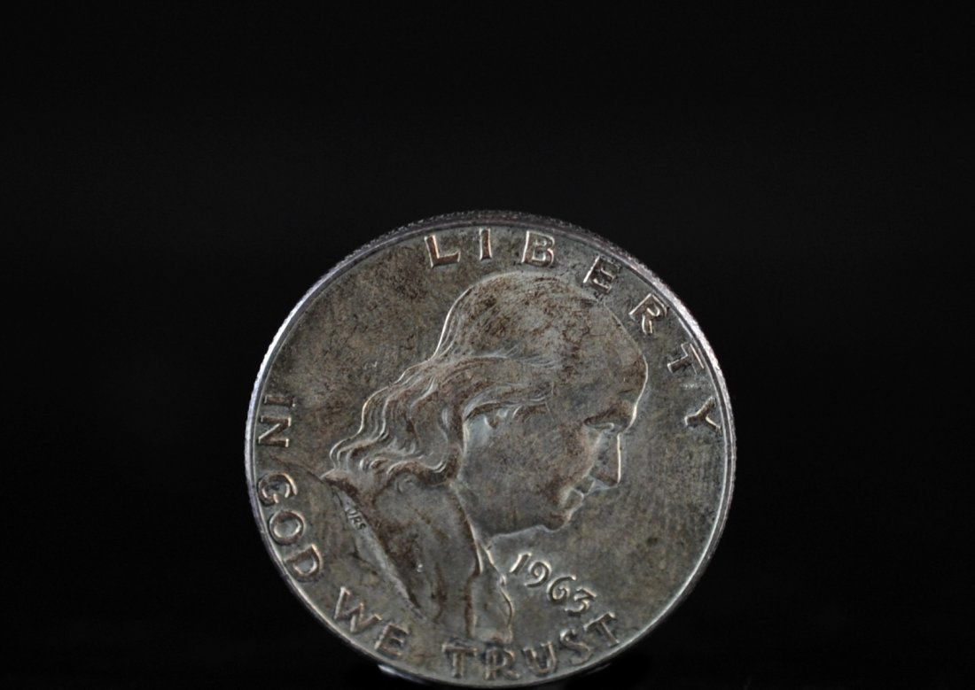 1963 Benjamin Franklin Silver Half Dollar