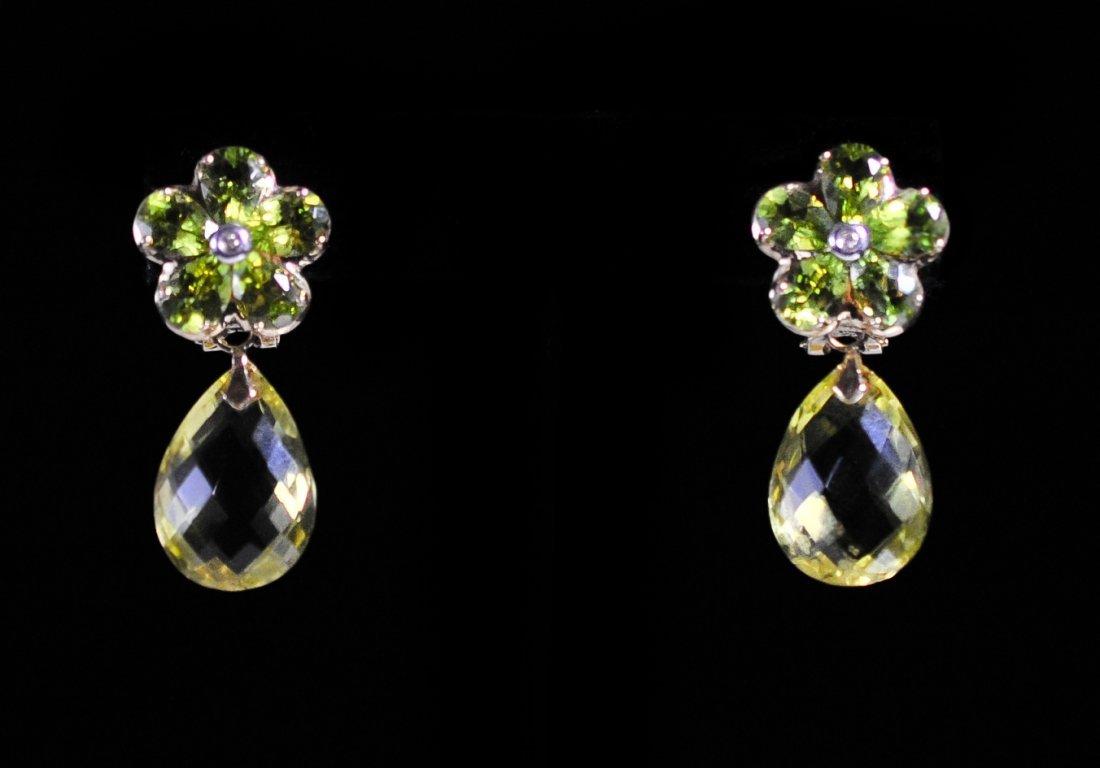 Vintage 14k Gold & Peridot Earrings
