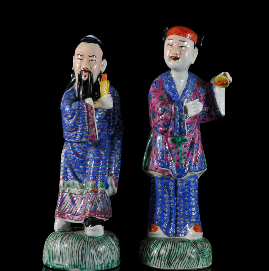 Pair Of Antique Chinese Porcelain Figurines