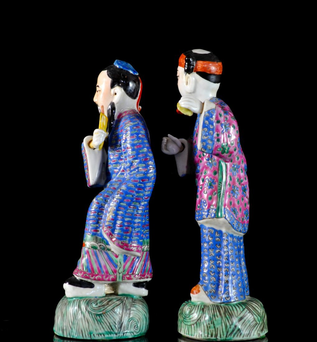 Pair Of Antique Chinese Porcelain Figurines - 2