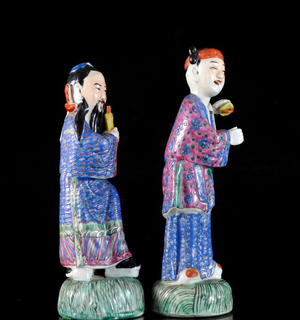 Pair Of Antique Chinese Porcelain Figurines - 4
