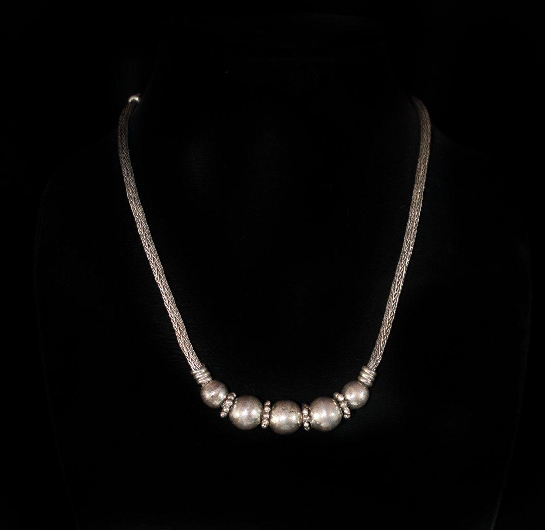 Navajo Style Silver Necklace