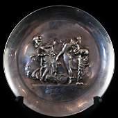 Salvador Dali Lincoln Sterling Silver 1972 Annual Plate