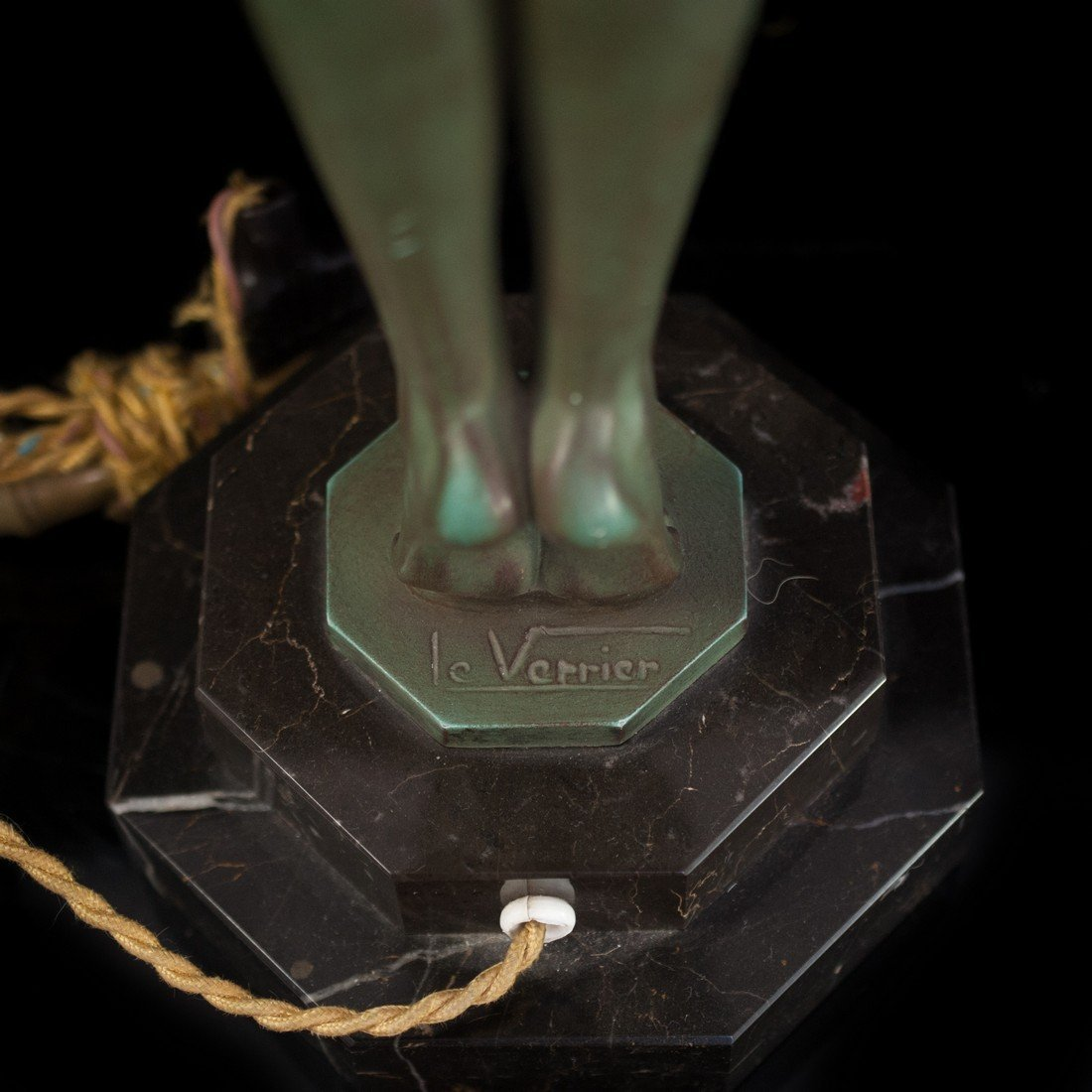 "Max Le Verrier (French 1891-1973 ) ""Clarte"" Bronze Lamp - 3"