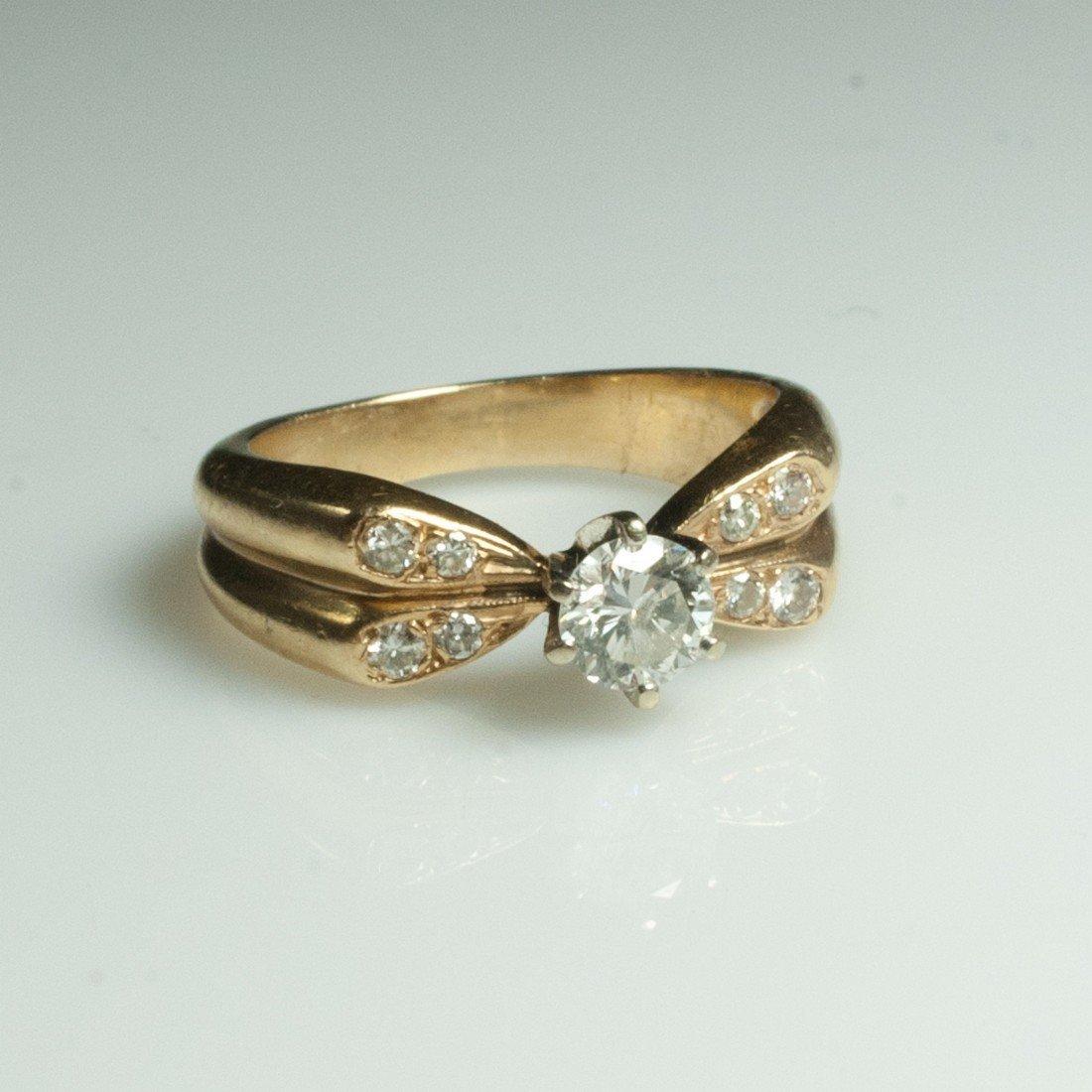 Gold & Diamond Ladies Engagement Ring