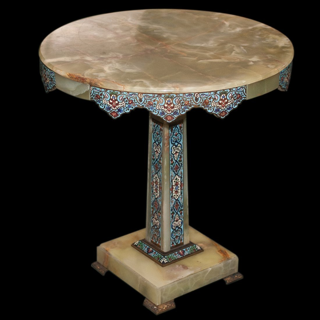 Champleve Onyx Table