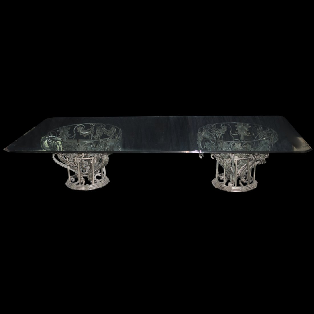 Palace Size  Glass Dining Table