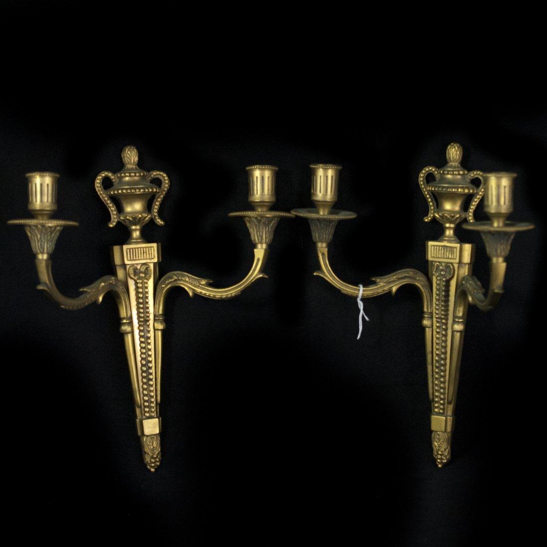 Pair of Dore Bronze Sconces