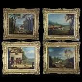 4 Herbert Clayton Desvignes (British) Paintings