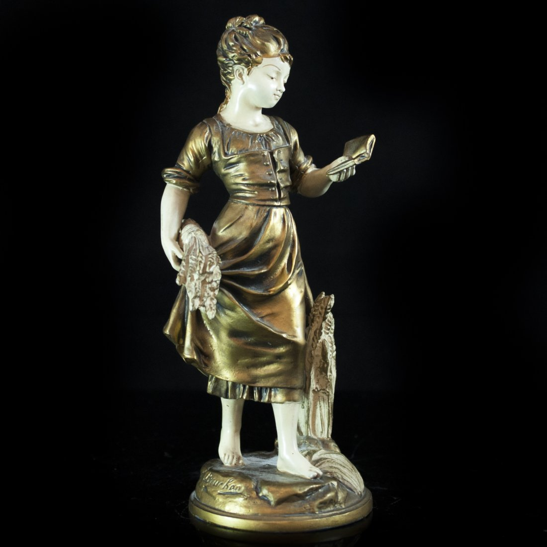 Spelter Sculpture by Emile Bruchon (French, 1806 -