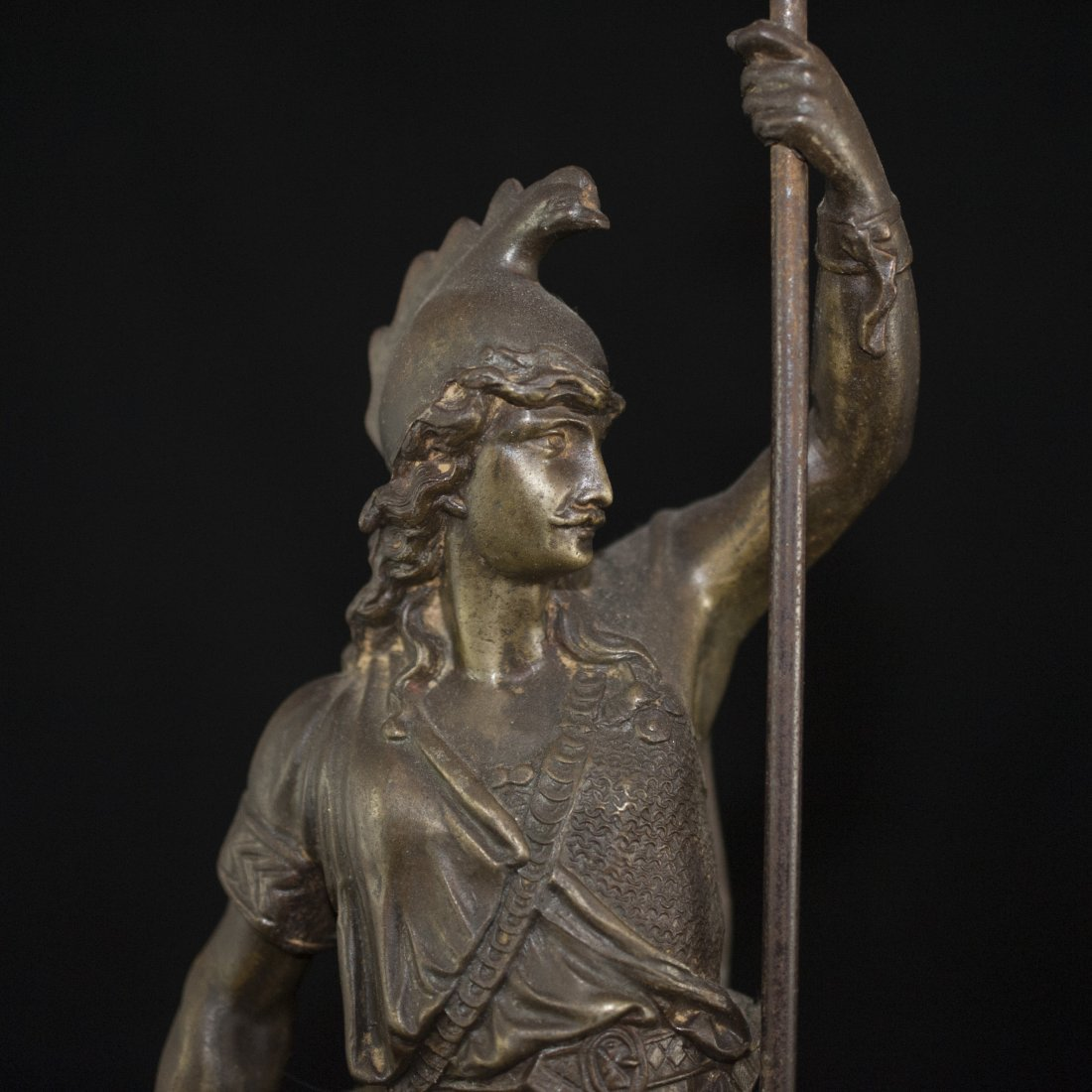 Pair of White Metal Greek God Figurines - 2