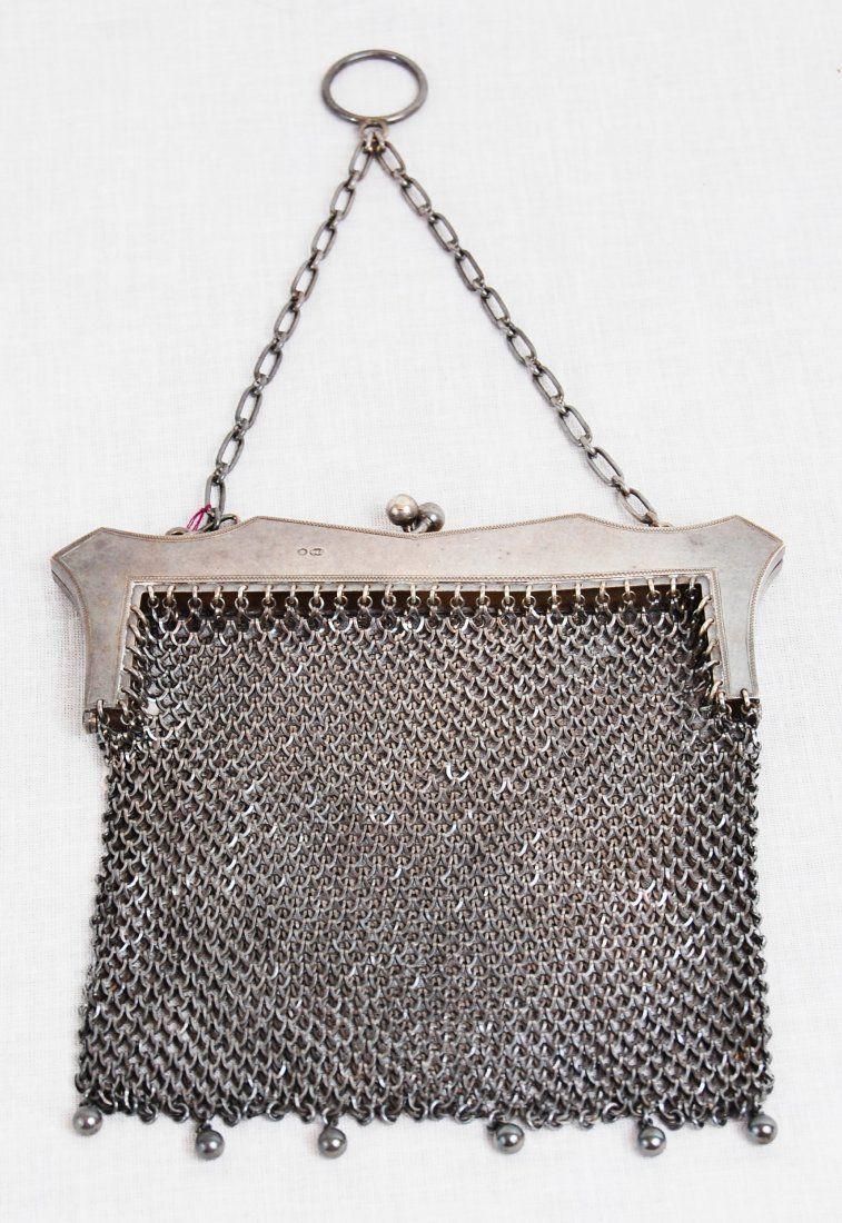 Antique Sterling Silver Mesh Purse