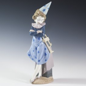 "Lladro ""girl With Trumpet"""