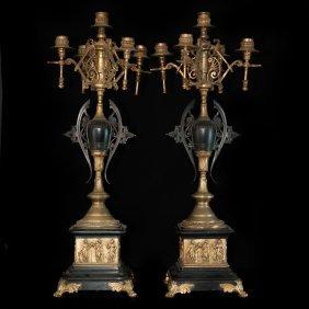 Antique Bronze Candelabras