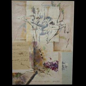 """three Dancers"" Serigraph By Michael Gorban(israeli B."