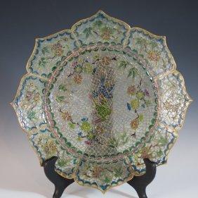 Reverse Glass Cloisonne Plate