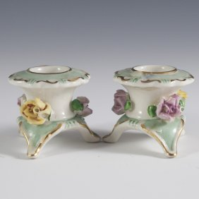 Capodimonte Porcelain Candle Holders