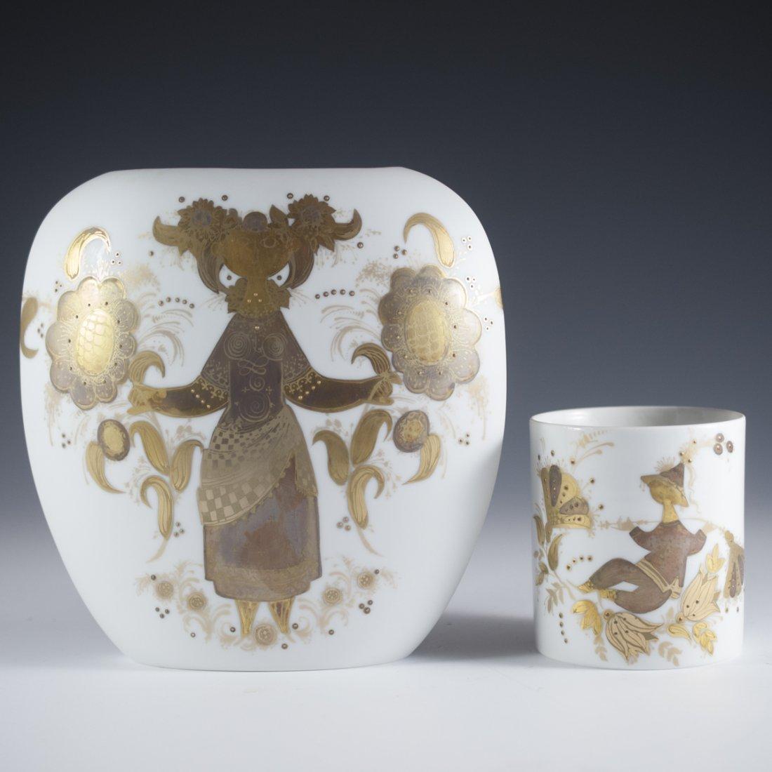 """Rosenthal Bjorn Wiinblad """"Quatre Couleaurs"""" Porcelain"""