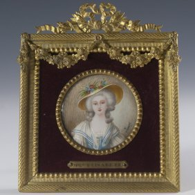 "Minature Portrait ""madame Elisabeth"""