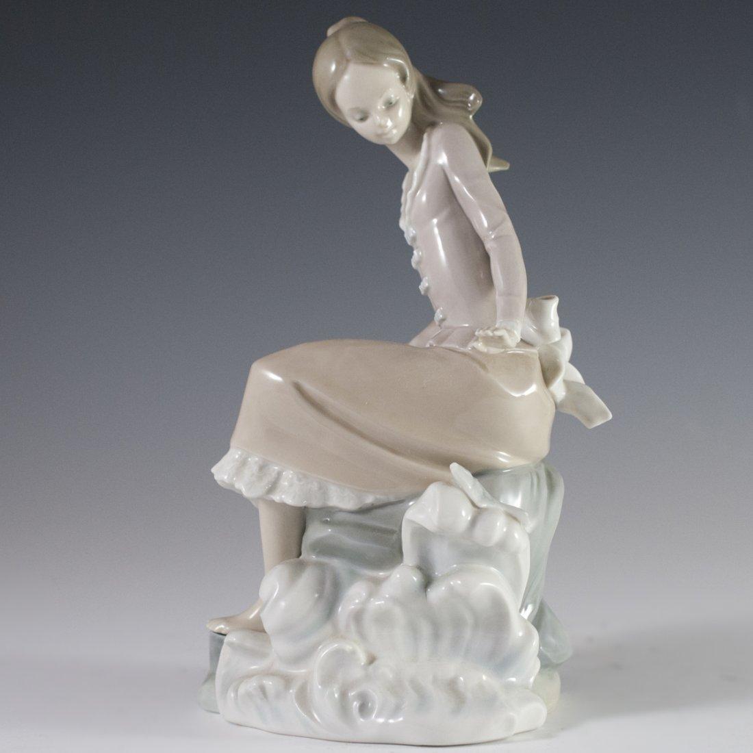"Lladro Porcelain ""Girl at the Seaside"" - 5"