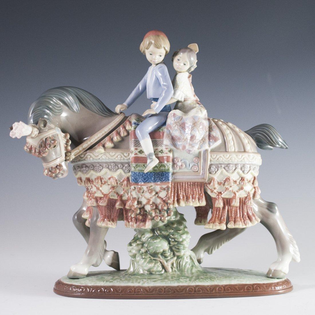 "Lladro ""Valencian Children on Horse"""