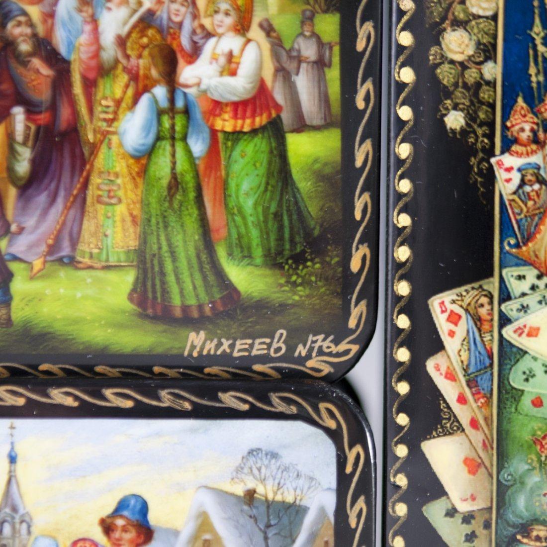 Russian Lacqeured Papier Mache Boxes - 5