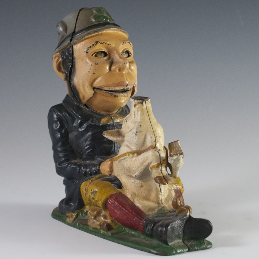 "Antique American ""Paddy & The Pig"" Coin Bank"