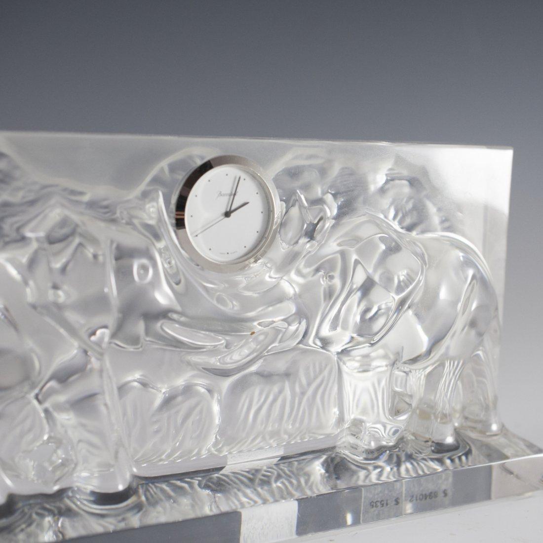 Baccarat Crystal Elephant Mantel Clock - 4