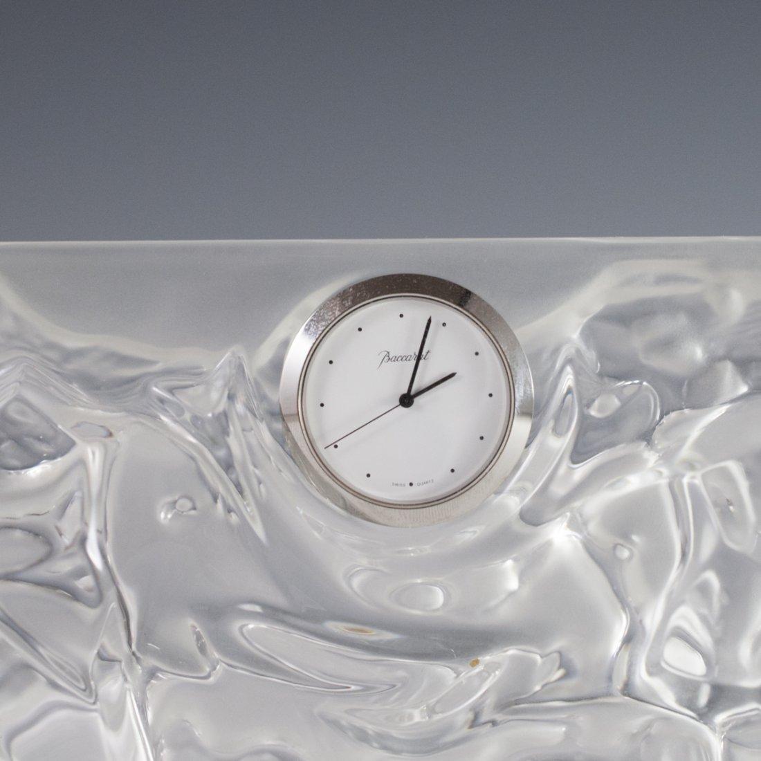 Baccarat Crystal Elephant Mantel Clock - 5