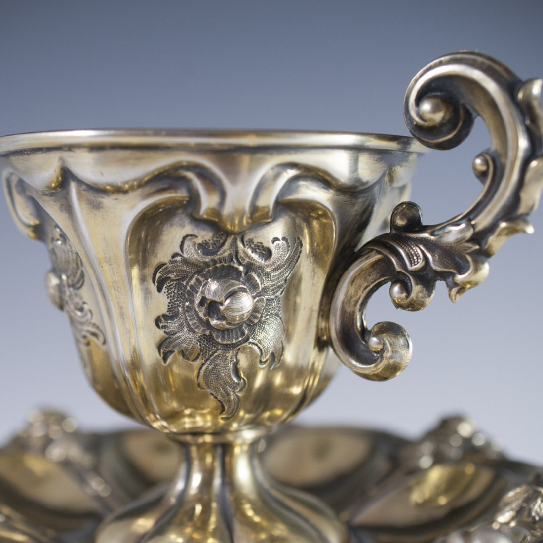 Possibly Tiffany & Co. Sterling Goblet & Saucer - 2