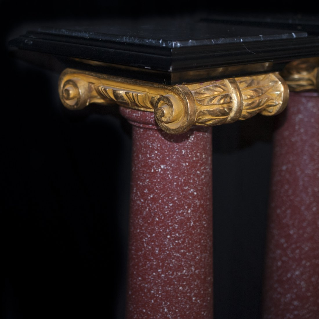 Marble Gilded Wood & Composite Pedestals - 2