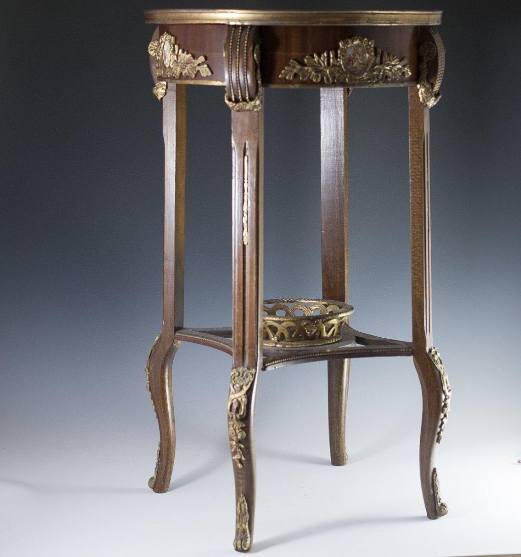 Wooden Marble Top & Dore Bronze Table