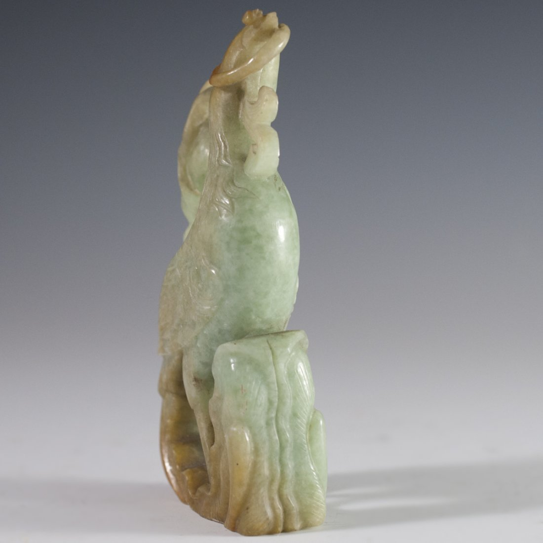 Antique Carved Jade Peacock - 4