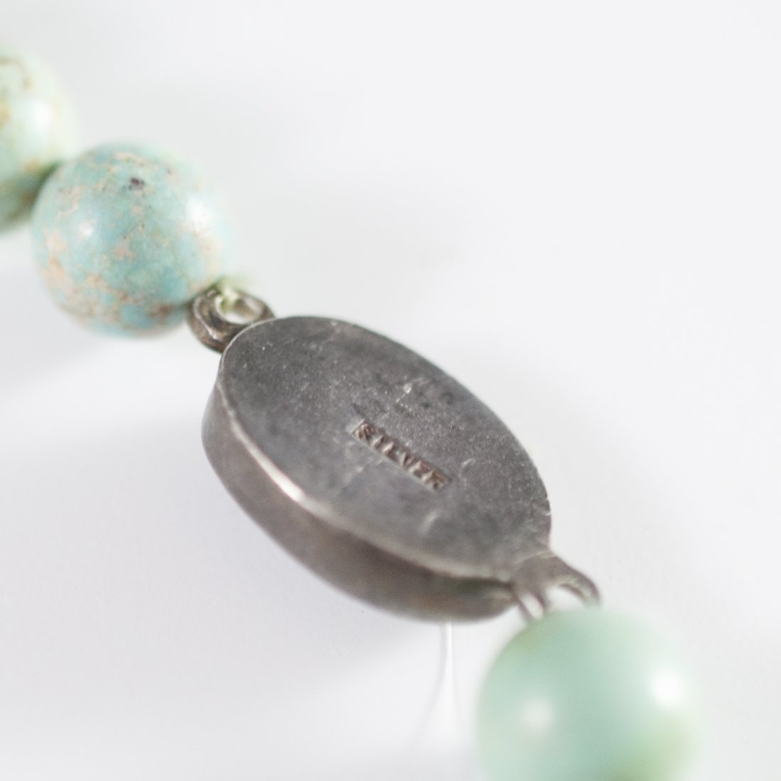 Antique Chinese Silver & Turquoise Necklace - 3