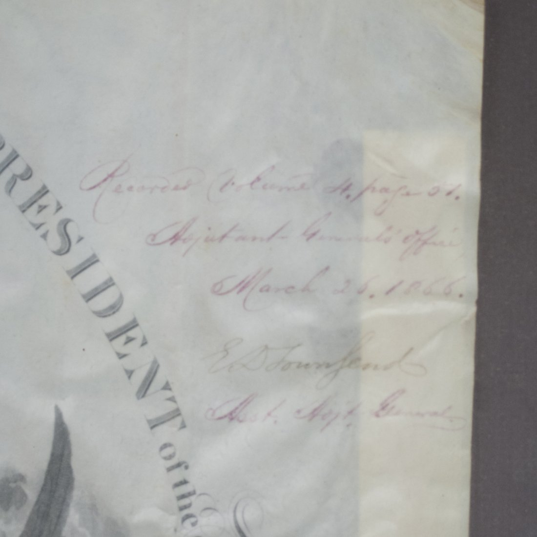 President Andrew Johnson Signed Commission - 2