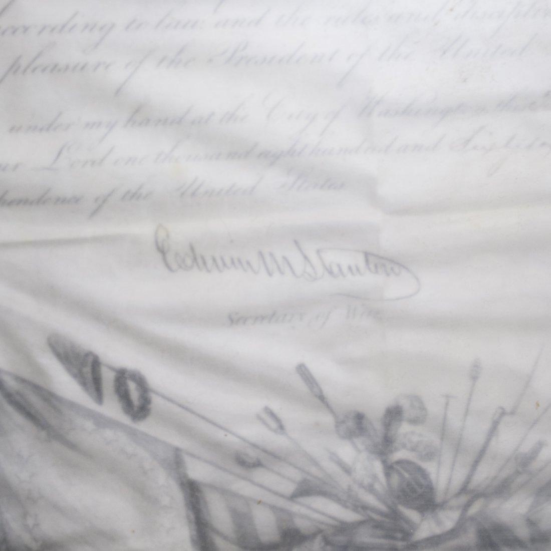 President Andrew Johnson Signed Commission - 3