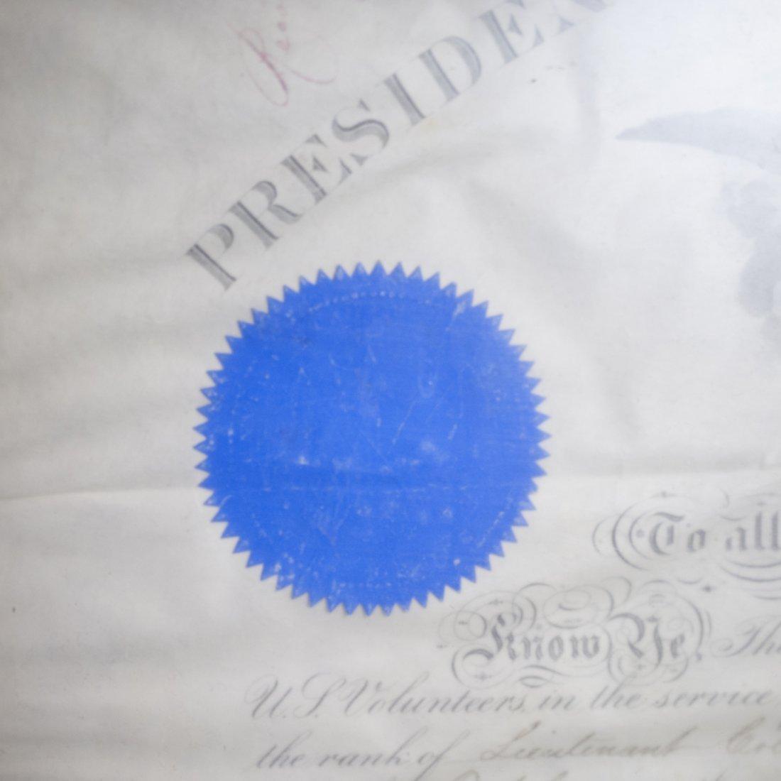 President Andrew Johnson Signed Commission - 4