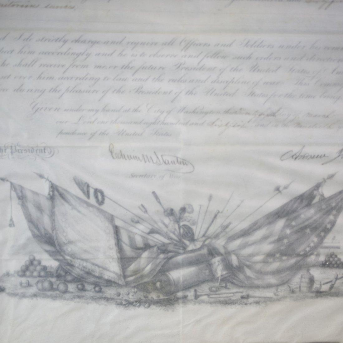 President Andrew Johnson Signed Commission - 5