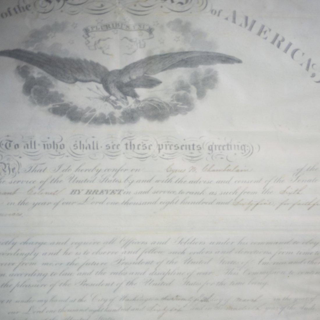 President Andrew Johnson Signed Commission - 6